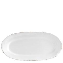 Vietri Bianco White Small Oval Platter