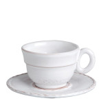 Vietri Bellezza White Espresso Cup & Saucer