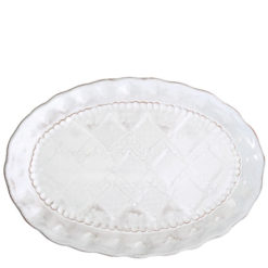 Vietri Bellezza White Medium Oval Platter