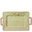 Vietri Bellezza Celadon Handled Rectangular Platter