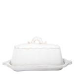 Vietri Bellezza White Butter Dish