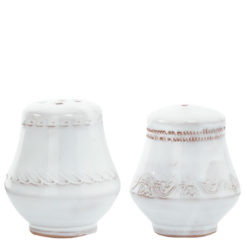 Vietri Bellezza White Salt & Pepper Shakers