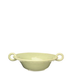 Vietri Bellezza Celadon Medium Handled Serving Bowl