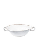 Vietri Bellezza White Medium Handled Serving Bowl