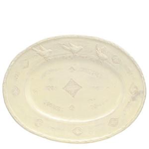 Vietri Bellezza Buttercream Large Oval Platter