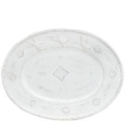 Vietri Bellezza White Large Oval Platter
