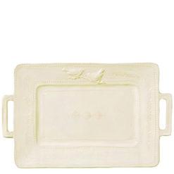 Vietri Bellezza Buttercream Handled Platter