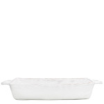 Vietri Bellezza White Medium Rectangular Baking Dish