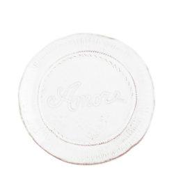 Vietri Bellezza White Amore Plate