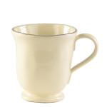 Vietri Crema Cream Footed Mug