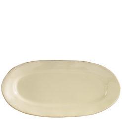 Vietri VIETRI Crema Cream Small Oval Platter