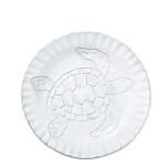 Vietri Incanto Mare White Turtle Canape Plate