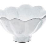 Vietri Incanto White Scallop Condiment Bowl