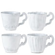 Vietri Incanto White Assorted Mugs