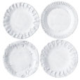 Vietri Incanto White Assorted Canape Plates