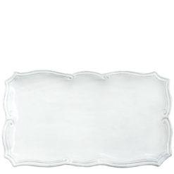 Vietri Incanto White Baroque Rectangular Platter