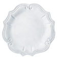 Vietri Incanto White Baroque Dinner Plate