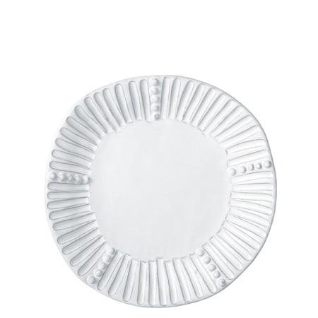 Vietri Incanto White Stripe Salad Plate