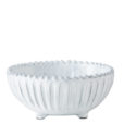 Vietri Incanto White Stripe Footed Bowl