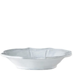 Vietri Incanto White Baroque Bowl