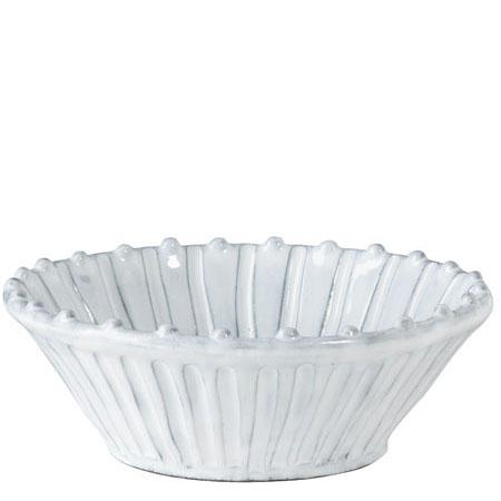 Vietri Incanto White Stripe Cereal Bowl