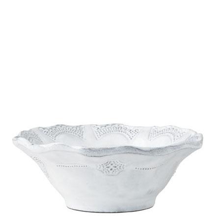 Vietri Incanto White Lace Cereal Bowl