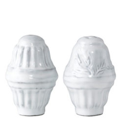 Vietri Incanto White Salt & Pepper Shakers