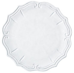 Vietri Incanto White Baroque Service Plate / Charger