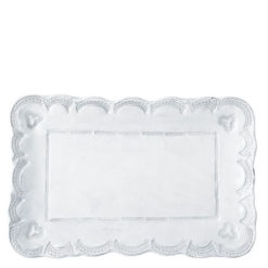 Vietri Incanto White Lace Small Rectangular Platter
