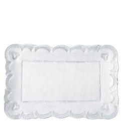 Vietri Incanto White Lace Small Rectangular Platter