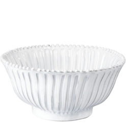 Vietri Incanto White Stripe Medium Serving Bowl