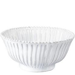 Vietri Incanto White Stripe Medium Serving Bowl