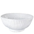 Vietri Incanto White Stripe Large Serving Bowl