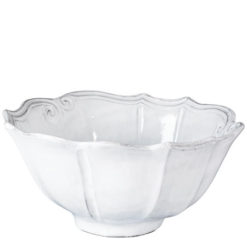 Vietri Incanto White Baroque Medium Serving Bowl