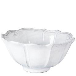 Vietri Incanto White Baroque Medium Serving Bowl