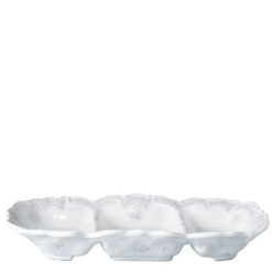 Vietri Incanto White Lace Medium Three Part Server