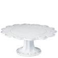Vietri Incanto White Lace Large Cake Stand