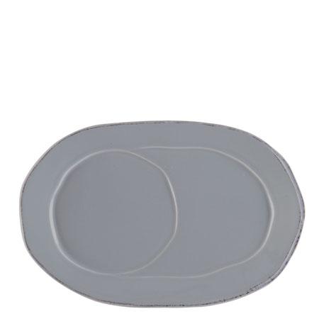 Vietri Lastra Gray Oval Tray