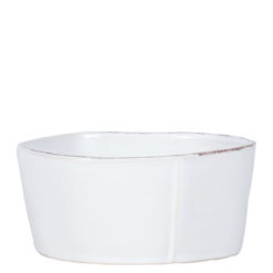 Vietri Lastra White Medium Serving Bowl