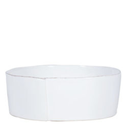 Vietri Lastra White Large Serving Bowl