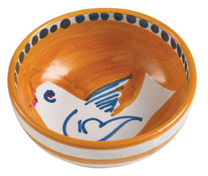 Vietri Uccello Olive Oil Bowl