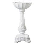 Vietri Incanto White Medium Square Footed Candleholder