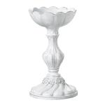 Vietri Incanto White Small Round Base Candleholder