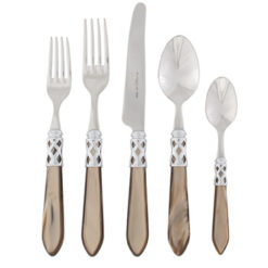 Vietri Aladdin Taupe Brilliant 5-Piece Place Setting