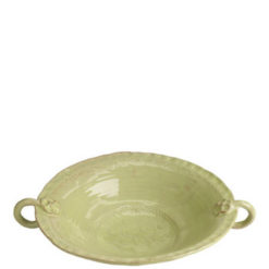 Vietri Bellezza Celadon Large Handled Serving Bowl