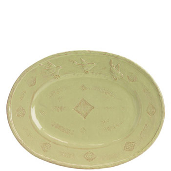 Vietri Bellezza Celadon Large Oval Platter