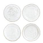Vietri Bellezza White Assorted Canape Plates