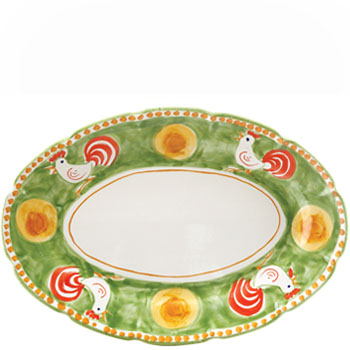 Vietri Gallina Oval Platter