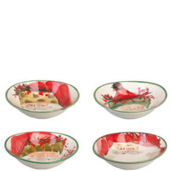 Vietri Old St. Nick Assorted Oval Bowls