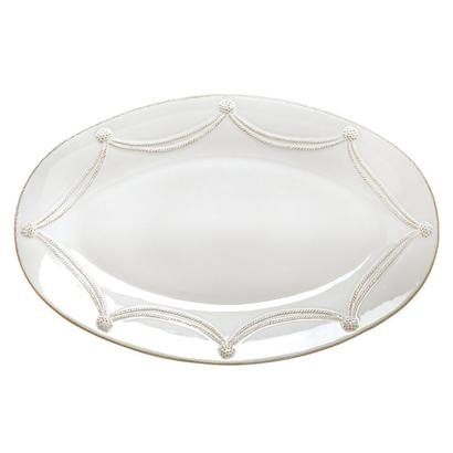 Juliska Berry and Thread Large Oval Platter - White